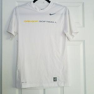 Oregon Softball Nike Pro Combat Shirt
